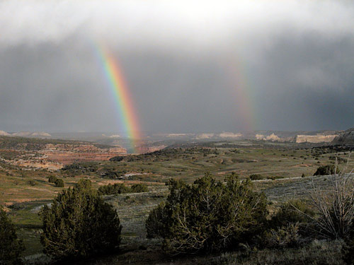 Rainbow over Rabbit Valley, west of Grand Junction, Colorado